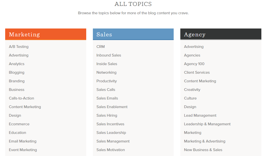 hub topics
